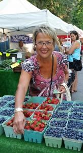 Judy at Farmers' Market